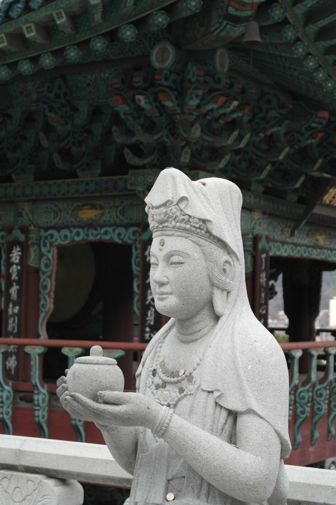 Statue at Samgwangsa temple in Busan, Korea