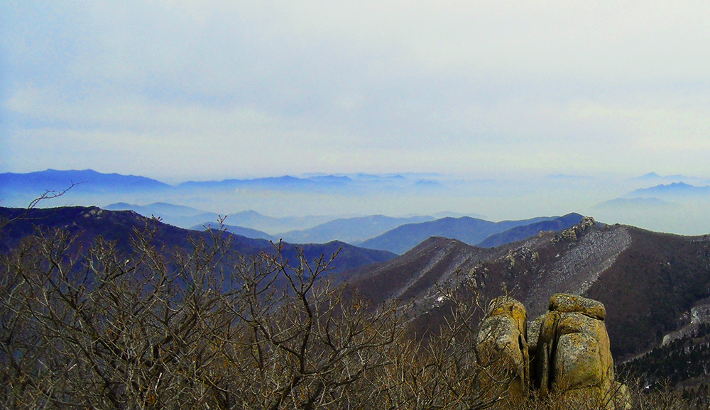 Mountains near Namhae, Korea