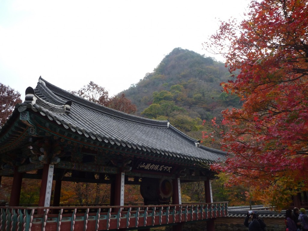 Korean temple in autumn