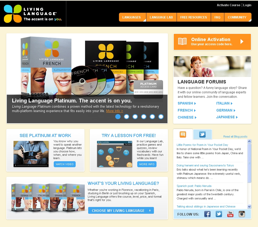 Living Language Homepage