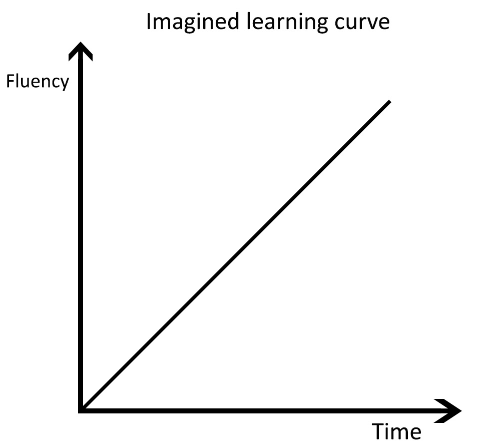 Imagined linear learning curve