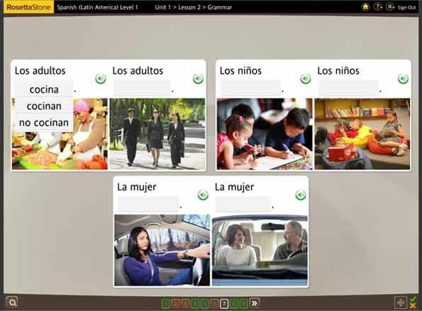 Rosetta Stone Spanish - Grammar exercise