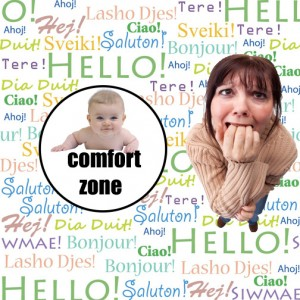 Baby inside a circled labeled comfort zone