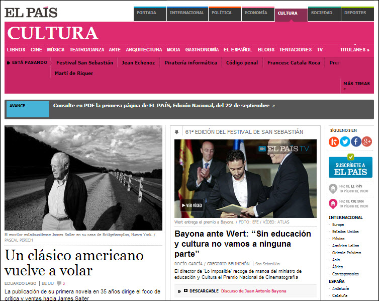 El Pais Spanish News screenshot
