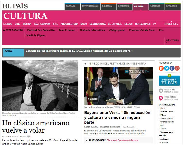 El Pais Spanish News screenshot