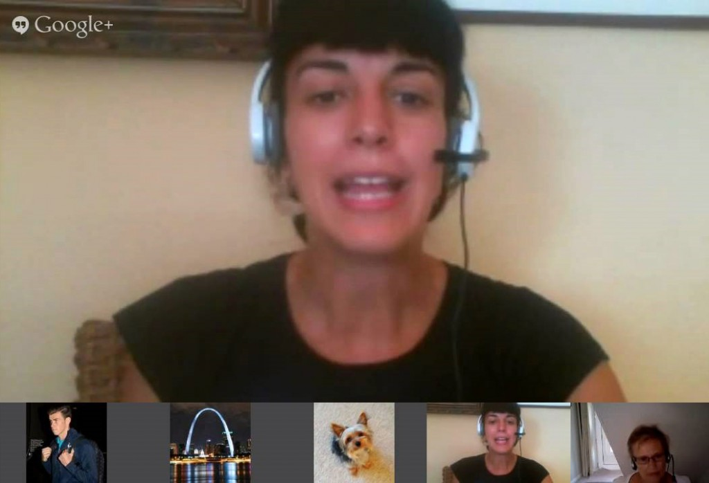 screenshot of Google Hangout conversation