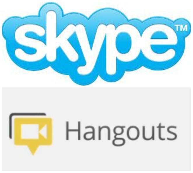 Skype and Google Hangout