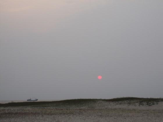 Sunset over Jeju Island
