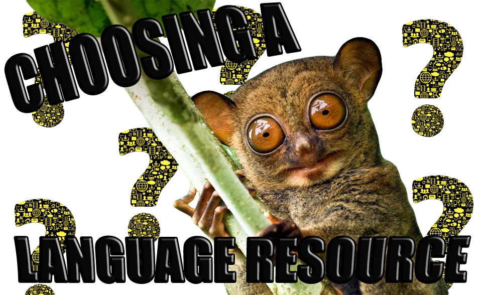 tarsier choosing language resource