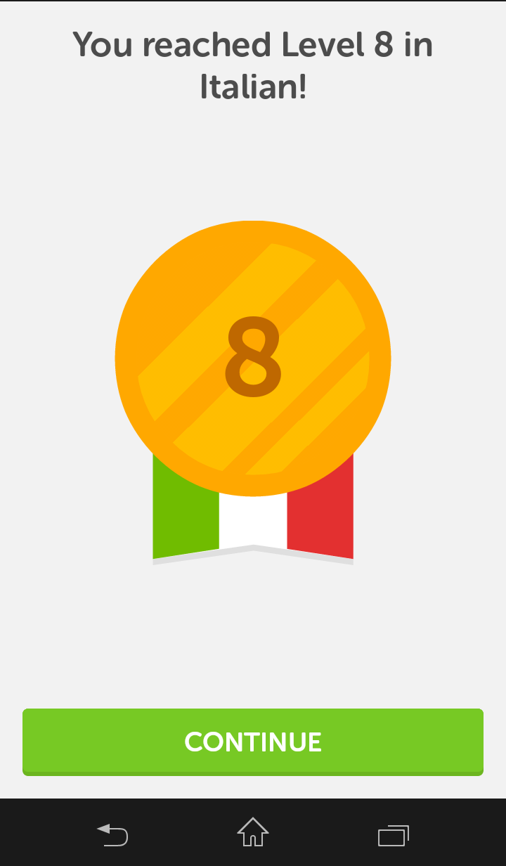 how to say level in italian