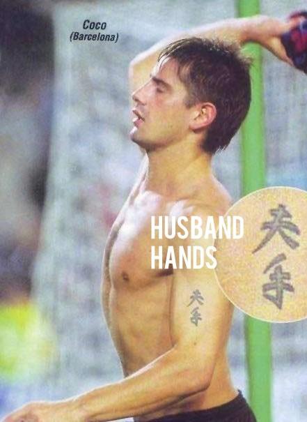 Husband hands tattoo