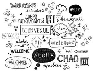 Multilingual words hello