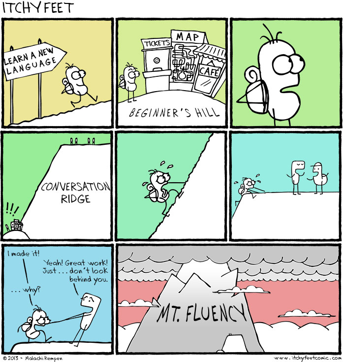 Itchy Feet Comic - Mount Fluency