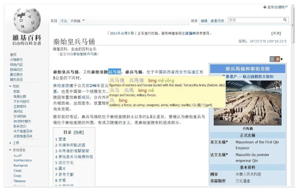 look up words on Chinese websites